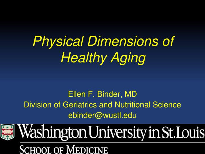 Physical Dimensions of