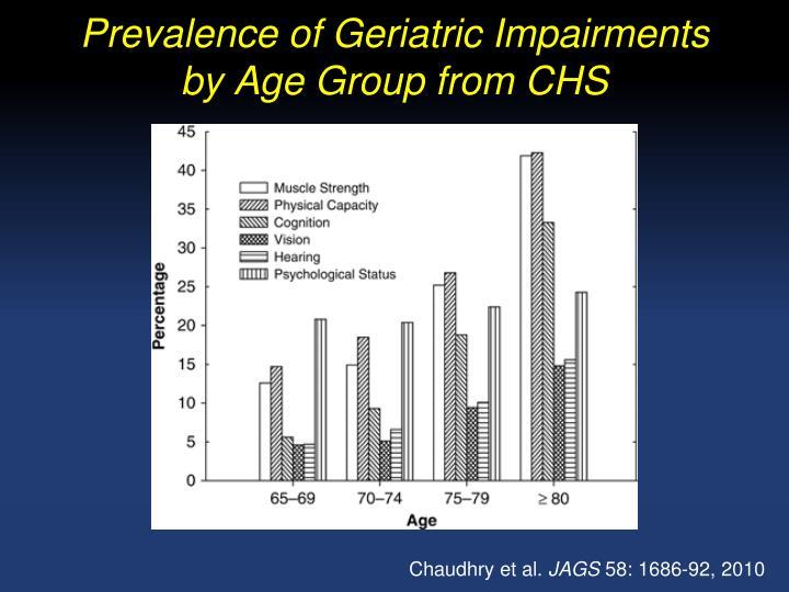 Prevalence of Geriatric Impairments