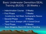 basic underwater demolition seal training buds 28 weeks