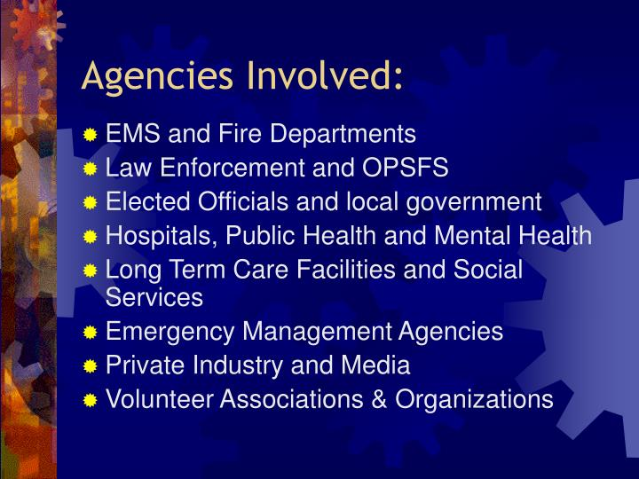Agencies Involved: