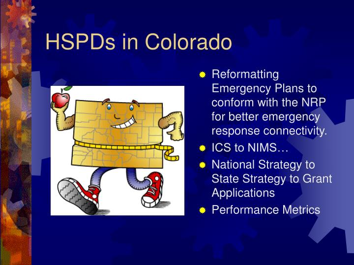 HSPDs in Colorado