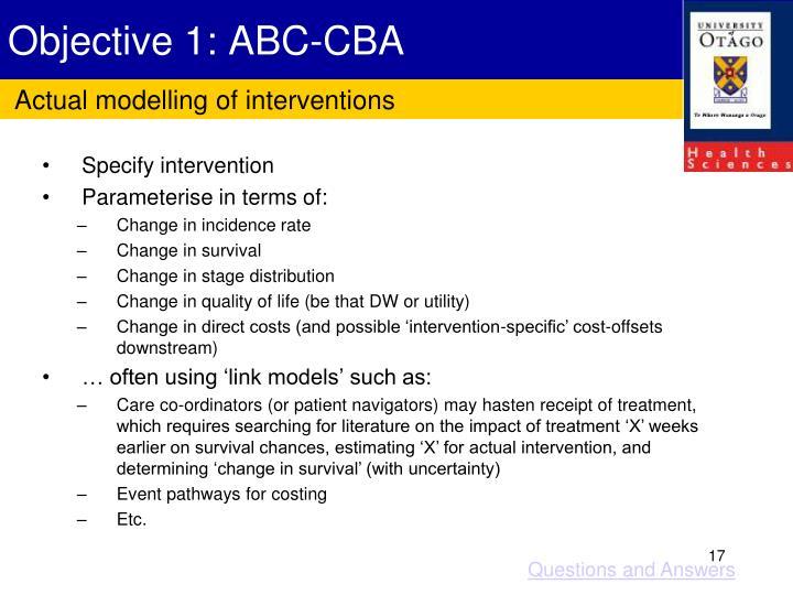Objective 1: ABC-CBA