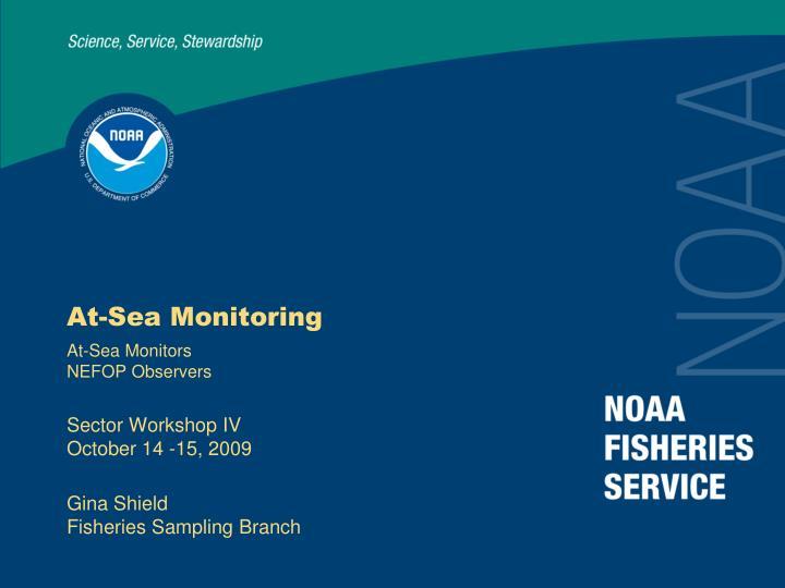 At-Sea Monitoring