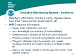 dockside monitoring report contents