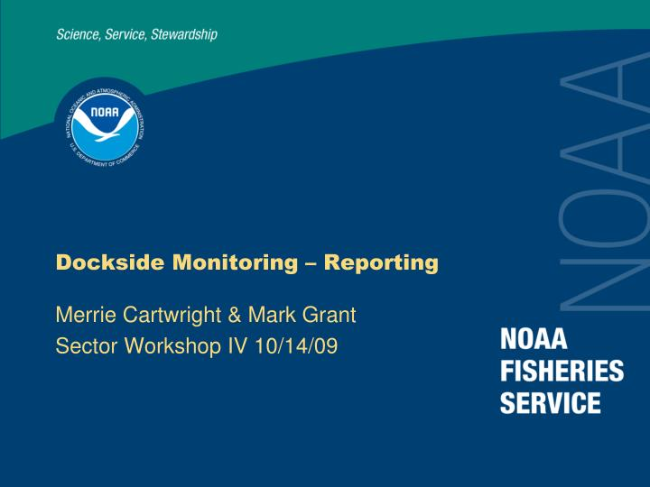 Dockside Monitoring – Reporting