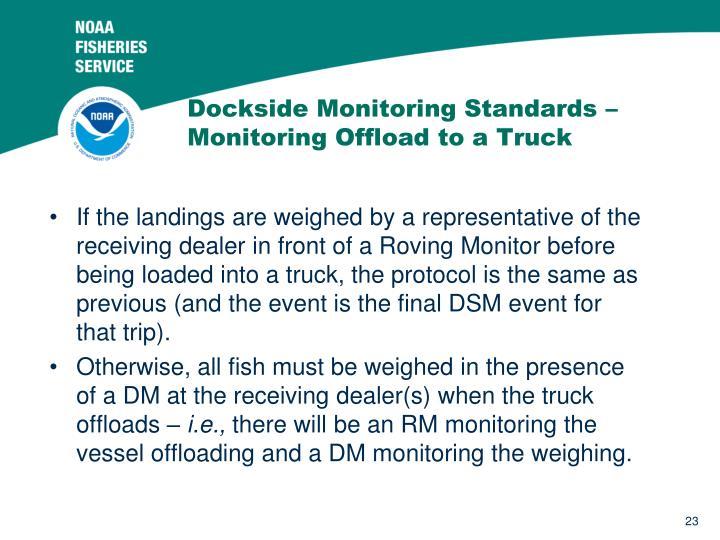 Dockside Monitoring Standards –