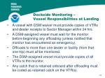 dockside monitoring vessel responsibilities at landing