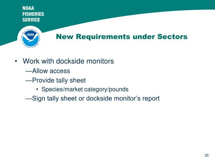 New Requirements under Sectors
