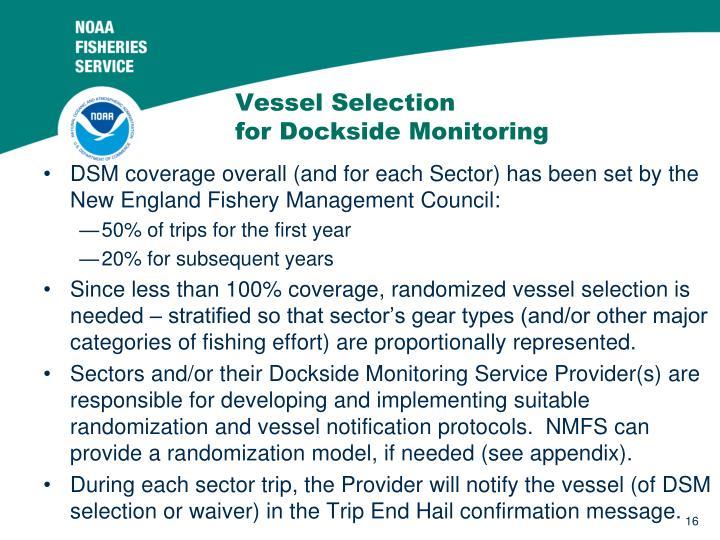 Vessel Selection
