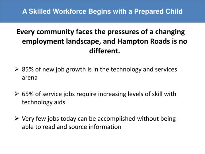 A Skilled Workforce Begins with a Prepared Child