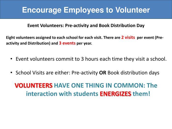 Encourage Employees to Volunteer