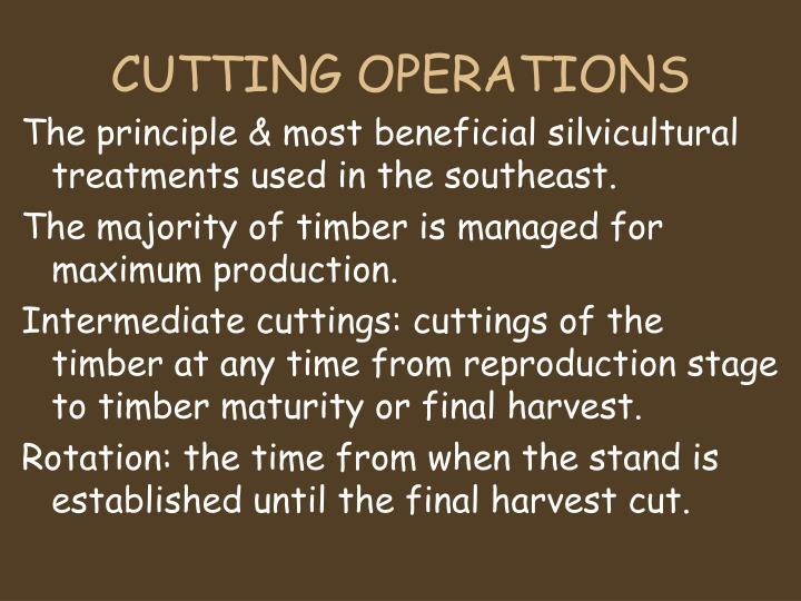 CUTTING OPERATIONS
