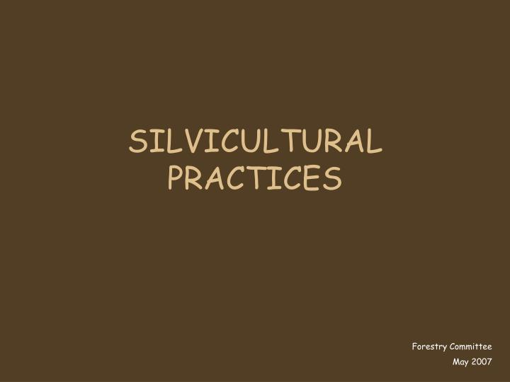 silvicultural practices