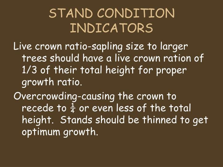 STAND CONDITION INDICATORS