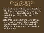 stand contition indicators
