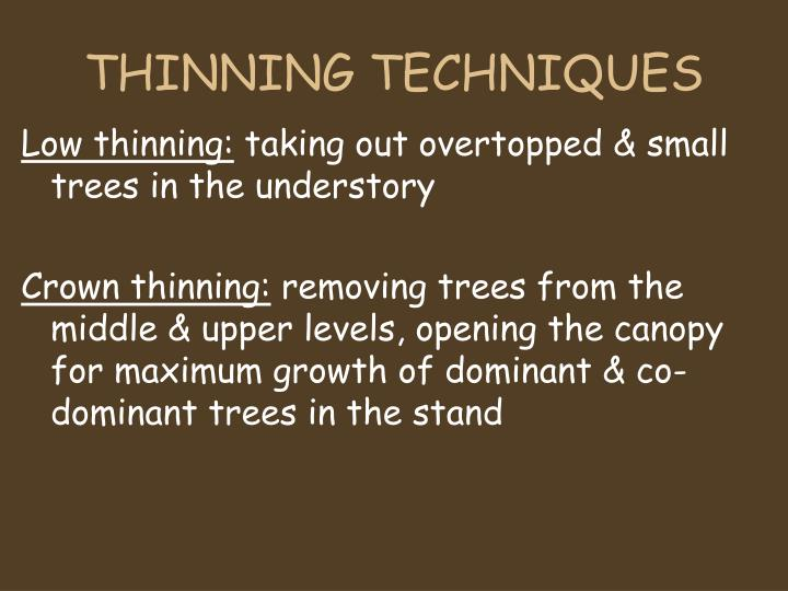 THINNING TECHNIQUES
