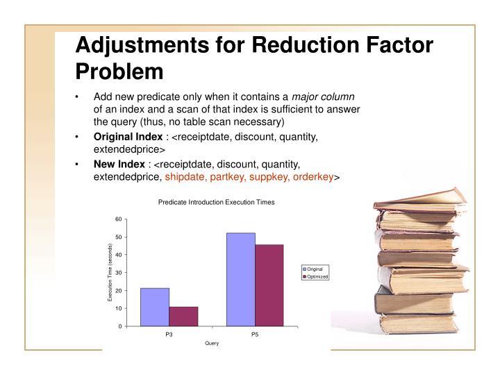 Adjustments for Reduction Factor Problem