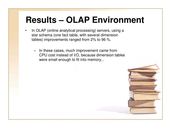 Results – OLAP Environment