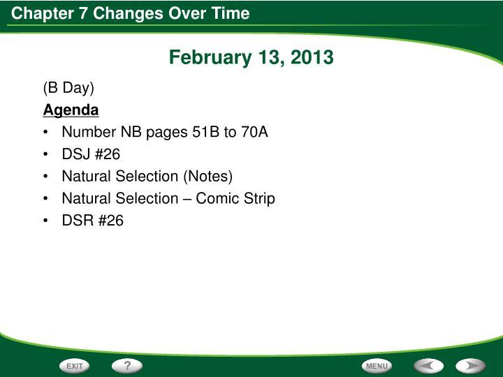 February 13, 2013