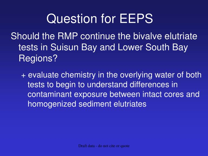 Question for EEPS
