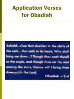 application verses for obadiah