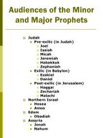 audiences of the minor and major prophets