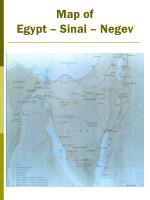 map of egypt sinai negev