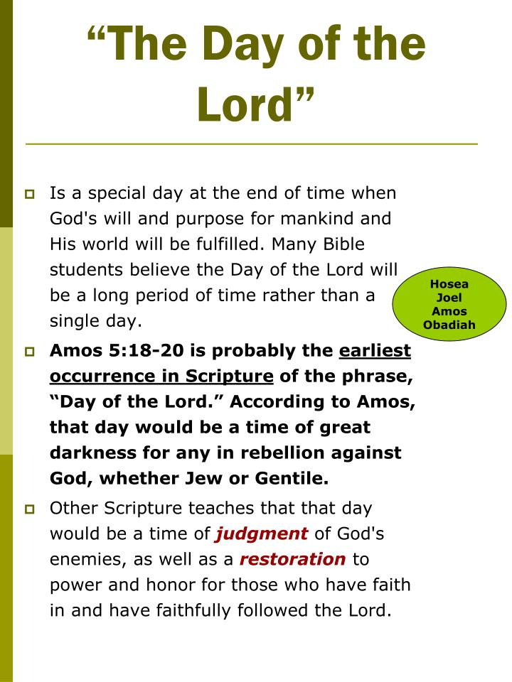 """The Day of the Lord"""