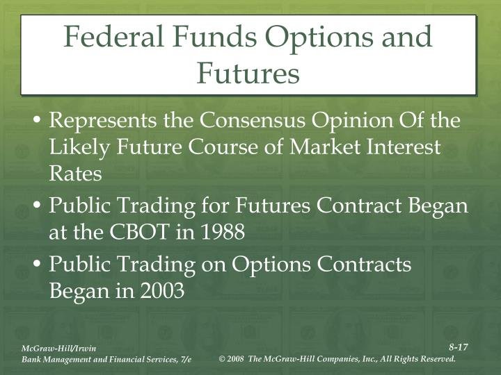Federal Funds Options and Futures