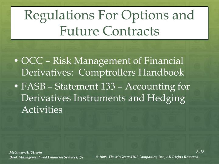 Regulations For Options and Future Contracts