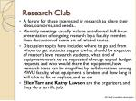 research club