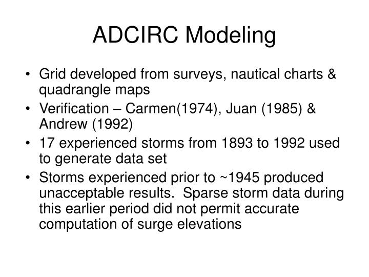 ADCIRC Modeling