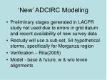 new adcirc modeling