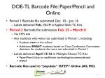 doe tl barcode file paper pencil and online