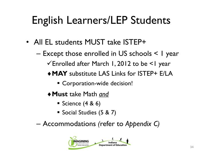 English Learners/LEP Students