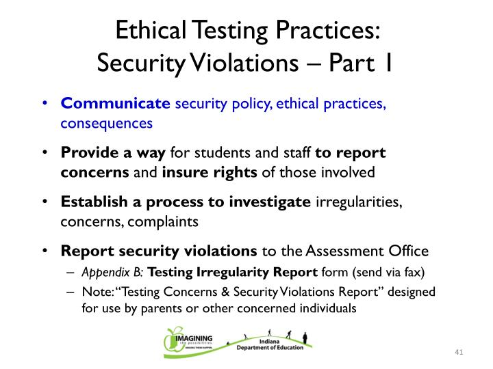Ethical Testing Practices: