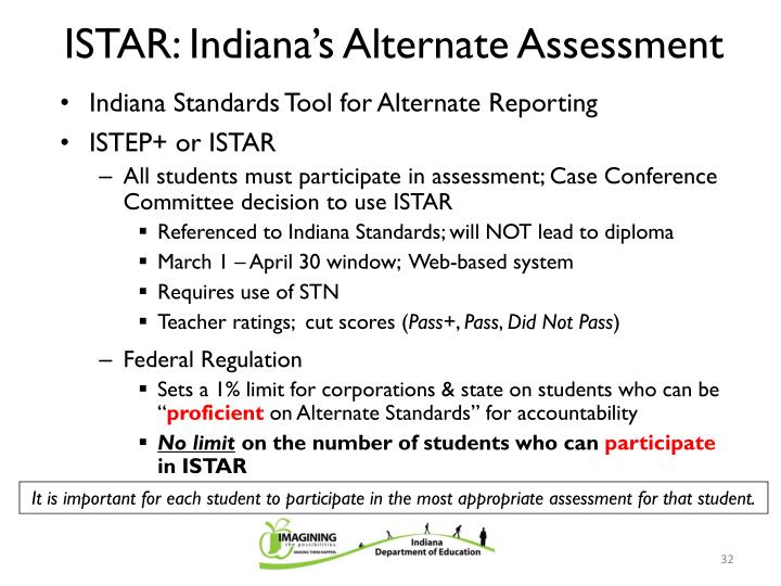 ISTAR: Indiana's Alternate Assessment