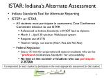 istar indiana s alternate assessment