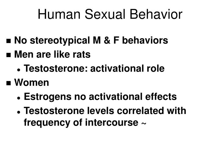 Human Sexual Behavior