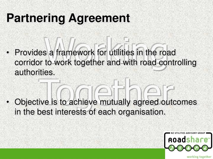 Provides a framework for utilities in the road corridor to work together and with road controlling authorities.