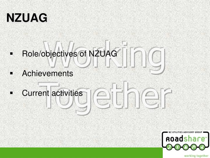 Role/objectives of NZUAG