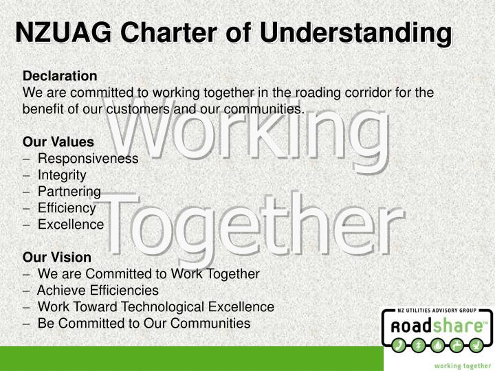 NZUAG Charter of Understanding