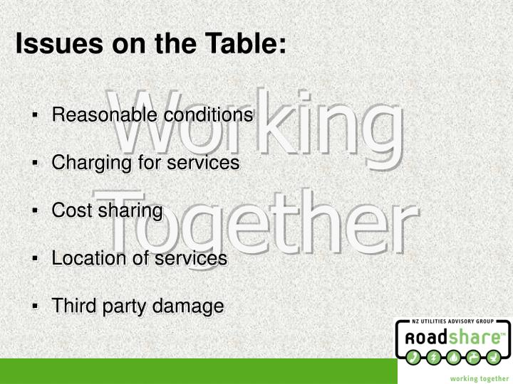 Issues on the Table: