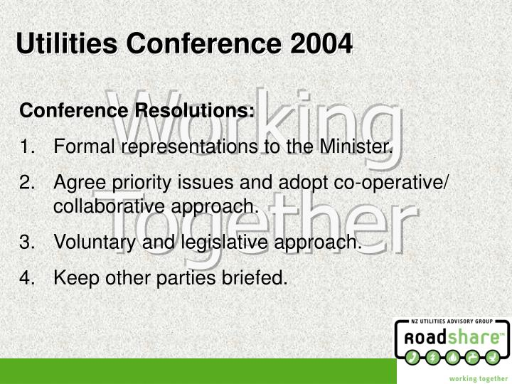 Conference Resolutions: