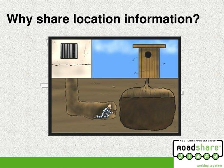 Why share location information?
