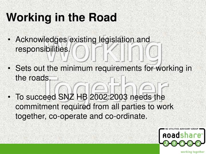 Acknowledges existing legislation and responsibilities.