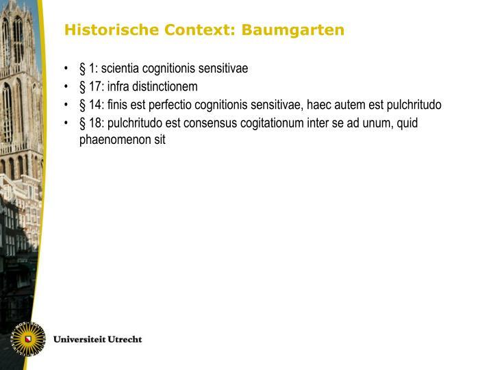 Historische Context: Baumgarten
