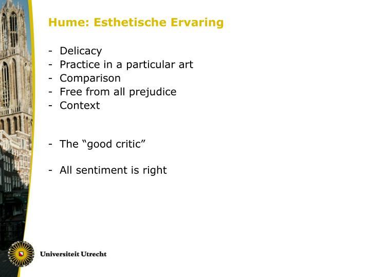 Hume: Esthetische Ervaring