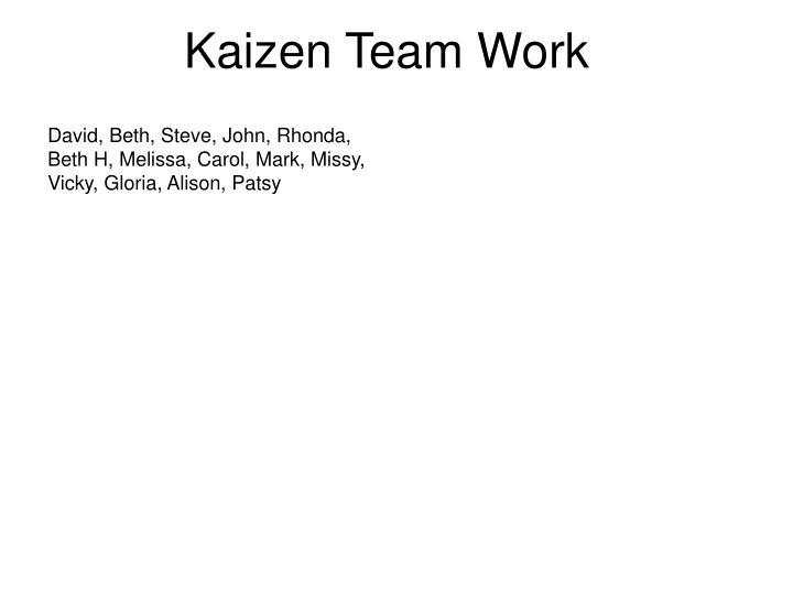 Kaizen Team Work