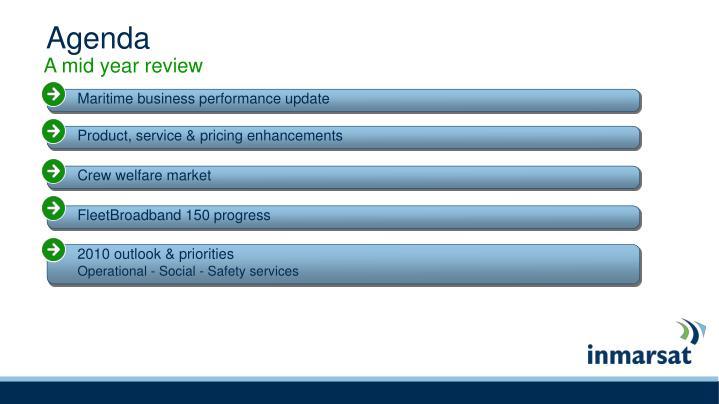 Maritime business performance update